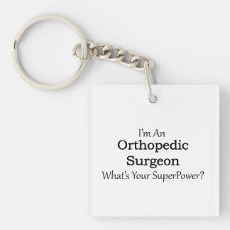 Cirujano ortopédico llavero cuadrado acrílico a doble cara