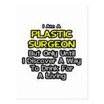 Cirujano plástico. Bebida para una vida Postal