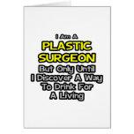 Cirujano plástico. Bebida para una vida Tarjeta