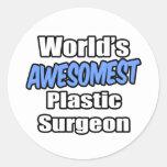 Cirujano plástico de Awesomest del mundo Pegatinas