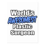 Cirujano plástico de Awesomest del mundo Postal