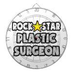 Cirujano plástico de la estrella del rock tablero de dardos