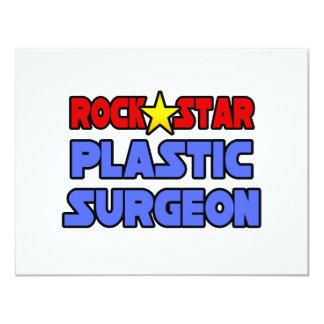Cirujano plástico de la estrella del rock invitacion personalizada