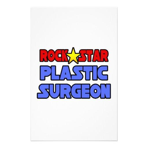 Cirujano plástico de la estrella del rock  papeleria de diseño