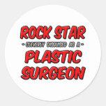 Cirujano plástico de la estrella del rock… etiquetas redondas