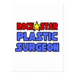Cirujano plástico de la estrella del rock tarjeta postal