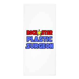 Cirujano plástico de la estrella del rock tarjeta publicitaria a todo color
