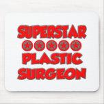Cirujano plástico de la superestrella tapetes de ratón