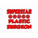 Cirujano plástico de la superestrella tarjetas postales