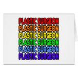 Cirujano plástico del arco iris felicitacion