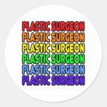 Cirujano plástico del arco iris pegatina