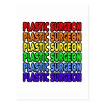 Cirujano plástico del arco iris tarjetas postales