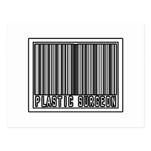 Cirujano plástico del código de barras tarjetas postales