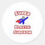 Cirujano plástico estupendo pegatina redonda
