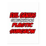 Cirujano plástico malvado del genio… postal