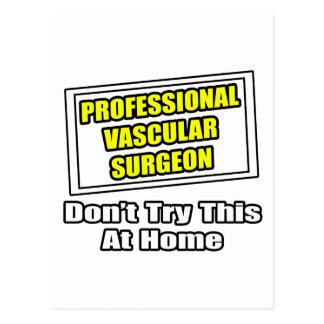 Cirujano vascular profesional tarjeta postal
