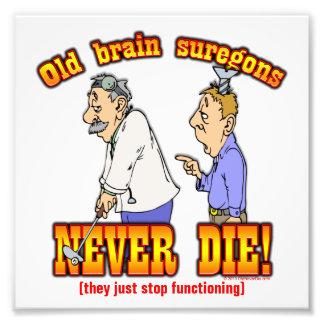 Cirujanos de cerebro arte con fotos