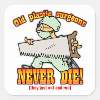 Cirujanos plásticos pegatina cuadradas