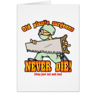 Cirujanos plásticos tarjeta de felicitación