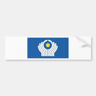 CIS Commonwealth of Independent States Flag Bumper Sticker
