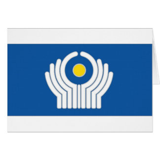CIS Commonwealth of Independent States Flag Card