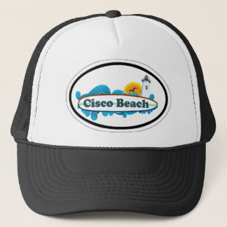 Cisco Beach Oval Design. Trucker Hat