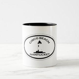 Cisco Beach Oval Design. Two-Tone Coffee Mug