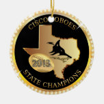 Cisco Loboes State Champions bling ornament custom Christmas Ornaments