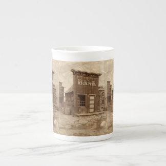Cisjordania viejo taza de porcelana