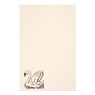 Cisne agraciado papelería personalizada