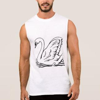 Cisne agraciado camiseta sin mangas
