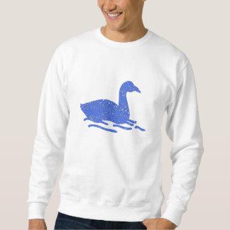 Cisne azul apenado pull over sudadera