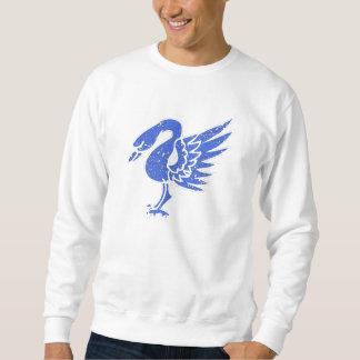 Cisne azul apenado pulover sudadera