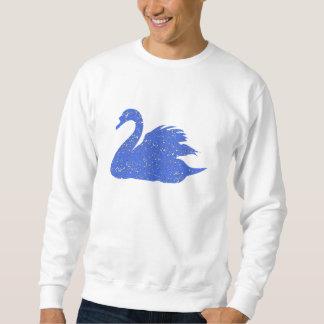 Cisne azul apenado pulóvers sudaderas