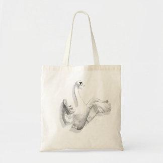 Cisne blanco - bolso bolsa tela barata