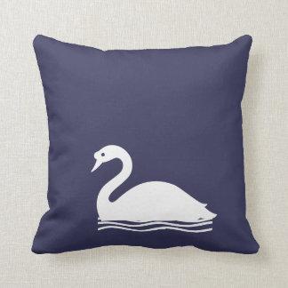 Cisne blanco cojin