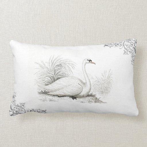 Cisne blanco cojín