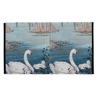 Cisne blanco del bebé del cisne de la natación ele