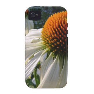 Cisne blanco del Echinacea en lona iPhone 4 Carcasa