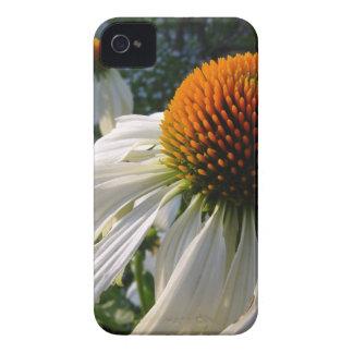 Cisne blanco del Echinacea en lona iPhone 4 Case-Mate Cárcasas