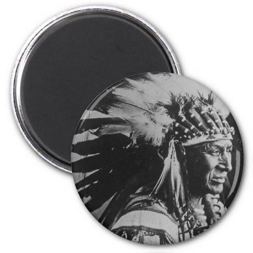 Cisne blanco del vintage de Lakota Siux principal Imán Redondo 5 Cm