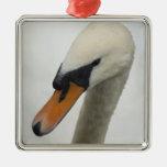 Cisne blanco ornaments para arbol de navidad