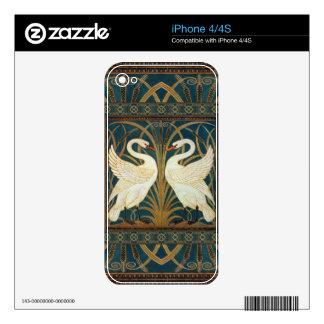 Cisne de la grúa de Gualterio, precipitación y iPhone 4S Calcomanía