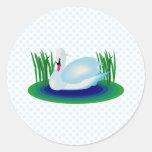 Cisne de Swerra Pegatina Redonda