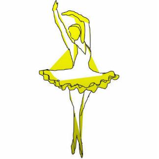cisne del amarillo de la bailarina de la escultura fotoescultura vertical