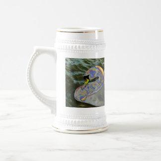 Cisne del arco iris tazas de café
