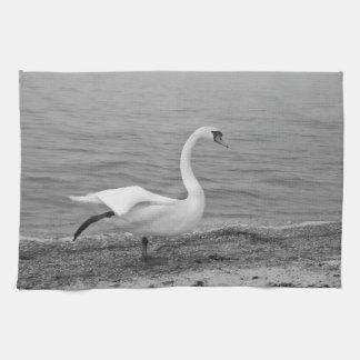 Cisne del baile toalla de mano