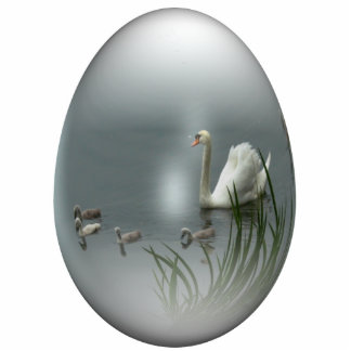 cisne del huevo de Pascua Adorno Fotoescultura