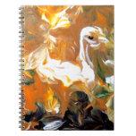 Cisne del otoño libros de apuntes con espiral