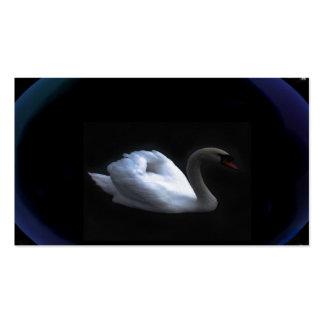 cisne del tótem tarjetas de visita